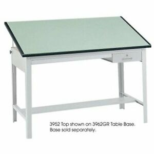 Safco Precision Drafting Table Top Rectangle 37 50 X 60 Green Top 3952