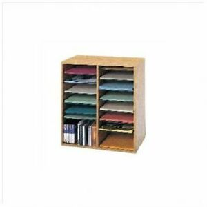 Safco 16 Compartments Adjustable Shelves Literature Organizer 21 1 Height X