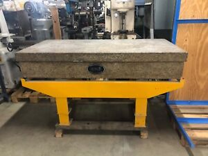 36 X 72 X 12 Thick Granite Surface Plate W Stand