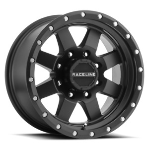 15 Inch 5x114 3 4 Wheels Rims Raceline 935b Defender 15x10 50mm Black