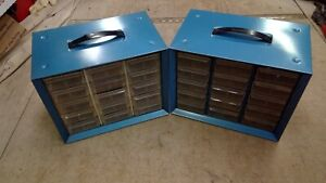 2 Vintage Akro Mills Large Parts Cabinets 15 Drawers Each