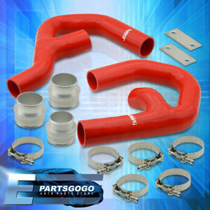For 06 10 Volkswagen Gti Mkv 2 0t Turbo Intercooler Piping Kit W Red Couplers
