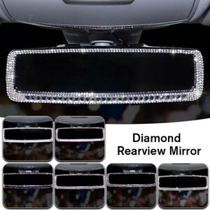 Sparkle Diamond Car Interior Rearview Mirror Bling Rhinestone Decor Accessories