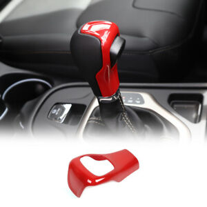 Red Central Gear Shift Hand Knob Cover Trim For Jeep Cherokee 14 18 Accessories