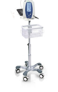 Rolling Stand For Welch Allyn Lxi Spot Monitor New 201 Big Wheel