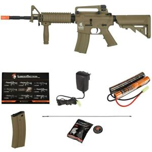 LANCER TACTICAL GEN 2 TAN M4 A1 AIRSOFT AEG AUTOMATIC ELECTRIC RIFLE V2 GEARBOX $184.95