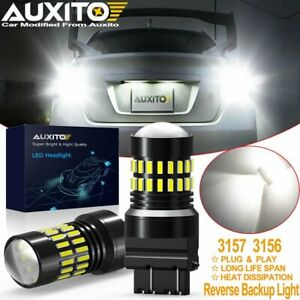 Auxito 3157 3156 Led Reverse Backup Light Bulbs 6000k White 2400lm Super Bright