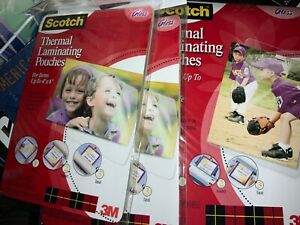 Scotch 3m Thermal Laminating Pouches 4 X 6 20 7 Packs 140 Total