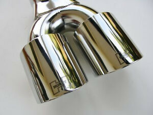 Hurst Logo Polished Stainless Steel Quad Exhaust Tips For All 08 21 Challengers