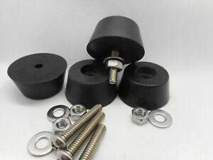 Set Of 4 Generator air Compressor Etc Rubber Feet Set W mounting Hardware