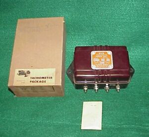 Nos Vintage Sun Tach Tachometer Power Unit Wu 2 Gasser Rat Rod