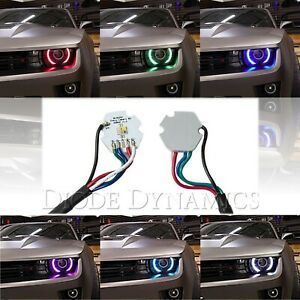 2010 2013 Chevy Camaro Rs Rgbw Led Multi Color Changing Headlight Accent Drl Set