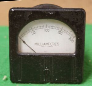 Westinghouse Vintage Milliamperes Dc Bakelite Panel Gauge Steam Punk Jt
