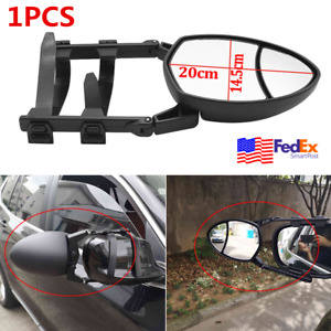 1pcs Universal Dual Side View Tow Mirror Truck Trailer Extension Mirror Clip On