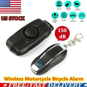 Loud 150db Wireless Anti theft Vibration Motorcycle Bike Security Alarm Remote W