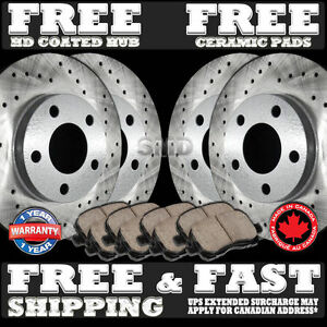 P0851 1994 1995 1996 1997 Mustang Cobra Mach Cross Drilled Brake Rotors Pads F r