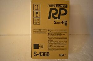 Pair Of Genuine Black High Density Super Hd Inks Riso S 4386 For Risograph