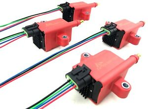 4 Hi output Ignition Coil Packs Universal Fit Smart Coils For Turbo Supercharged