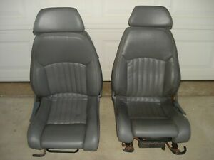 Pontiac Trans Am Gta Firebird 1989 Leather Front Seats Oem Gray