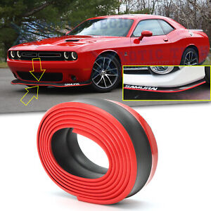 Front Bumper Lip Spoiler Wing Body Kit Splitter Chin Trim For Dodge Challenger
