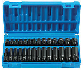 28 Pc 1 4 Drive Standard And Deep Length Metric Master Set Gry 9728m