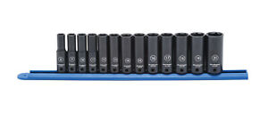 13 Pc 3 8 Drive Deep Metric Impact Socket Set Kdt 84914n