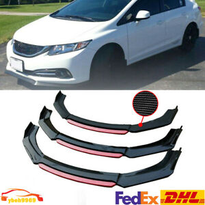 Carbon Fiber Front Bumper Lip Splitter For 2013 2015 9th Honda Civic Sedan Si