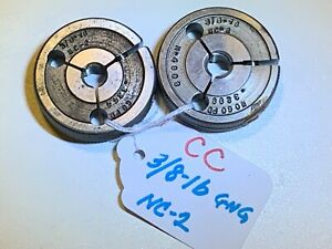 Lincoln Gage thread Ring Gages 3 8 16 Nc 2 Go 3344 No Go 3299