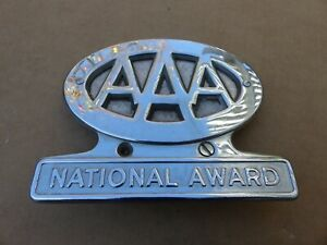 Aaa License Plate Topper Chrome Chevy Ford Dodge Vintage 1952 1952 Street Rod 39