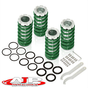 For 96 00 Honda Civic 2 3 4dr Jdm Green Spring Adjustable Coilovers Scale Sleeve