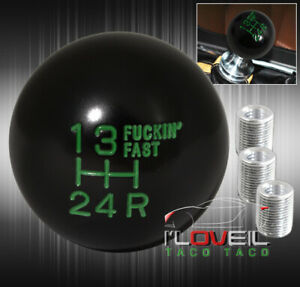 For Chevy Shift Knob Ball Round M T Motor M8 M10 M12 Racing Gear Kit Unit Green