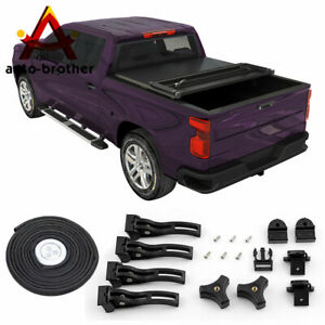 Textured Tri Fold Hard Solid Tonneau Cover For 2019 2020 Ford Ranger Truck 5ft