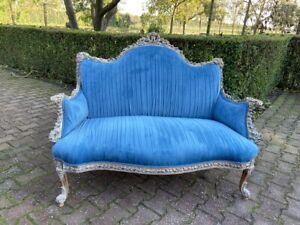 Blue French Louis Xvi Sofa New