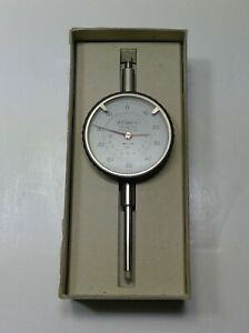 Fowler 0 1 White Face Ultra Dial Gage 52 528 110 Made In Germany