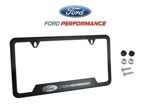 Mustang F150 Raptor Ford Performance License Plate Frame Black Stainless Steel