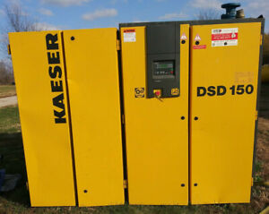 1 Used Kaeser System W Dsd 150 Rotary Screw Air Compressor Tanks And Dryer