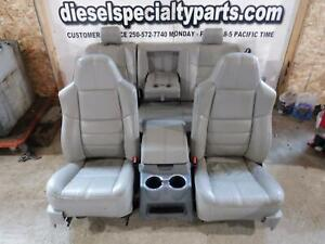 2008 2010 Ford F250 F350 Lariat Crew Cab Tan Leather Seats W Middle Console