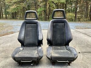 1979 Mustang Pace Car Recaro Seats With The Fishnet Headrest Full Set