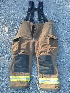 Firefighter Janesville Lion Apparel Turnout Pants 46r 2008 Suspenders Used