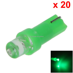 20x Green Rv T5 Gauge Light Dial Bulb Lamp Top Concave 1 In Line Led B005