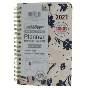 Planahead 2021 Monthly Weekly Planner Agenda Pocket Size 4 X 6 Floral