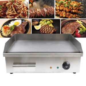 Electric Griddle Flat Top Grill 3000w Hot Plate Bbq Countertop Commercial 110v