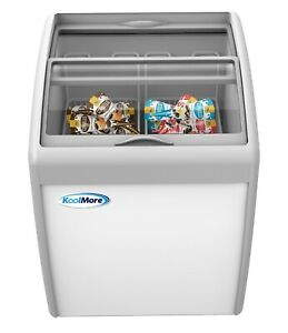 Commercial Ice Cream Chest Freezer 5 7 Cu Ft With Adjustable Thermostat White