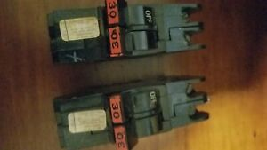 2 Each Federal Pacific Thin Double 30 Amp Breakers