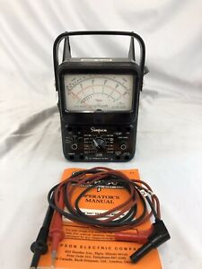 Simpson 260 Volt Ohm Milliammeter Series 7 Multimeter Leads Manual
