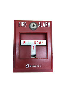Simplex 2099 9795 Fire Alarm Pull Station Addressable Single Action