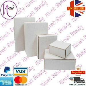 White Cardboard Boxes Postal Mailing Gift Packet All Sizes