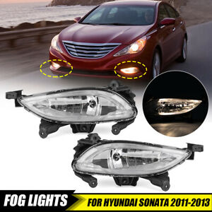 Clear Lens Front Bumper Driving Fog Lights For Hyundai Sonata 2011 2012 2013 Us