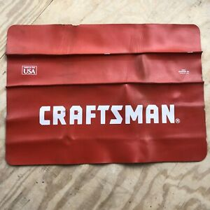 Vintage Craftsman Car Fender Apron Guard Cover Protector Mechanic Red 34x24