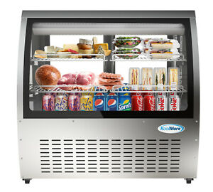 Deli Case New 47 Curved Glass Refrigerator Display Bakery Pastry Meat Case